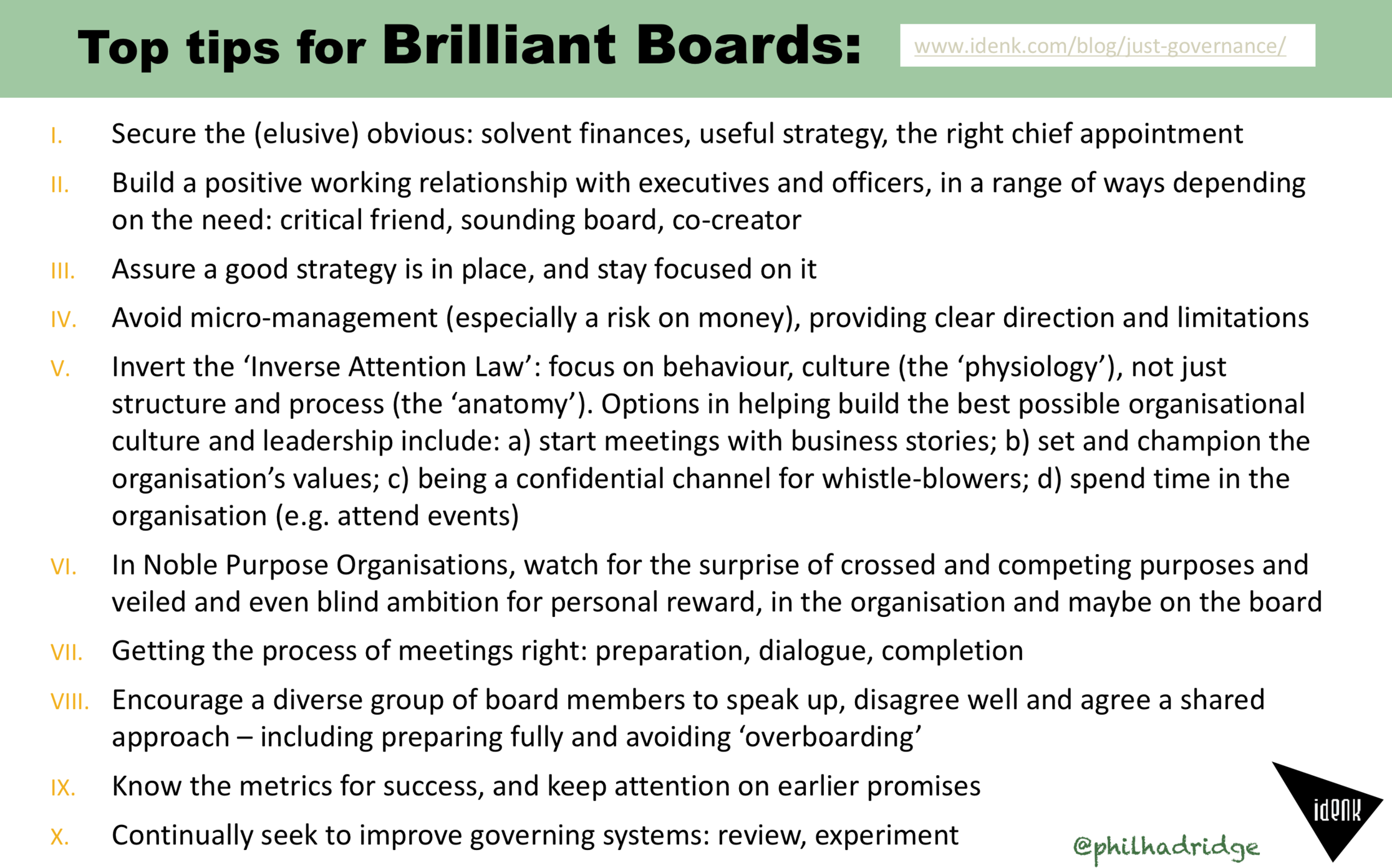 Top tips for brilliant boards